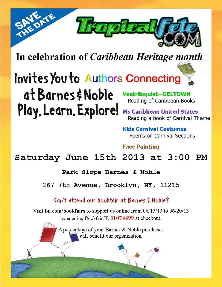 Tropicalfete's Authors Connecting In celebration of Caribbean Heritage month