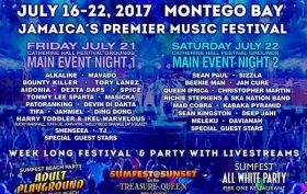 JAMAICA'S PREMIER REGGAE FESTIVAL, REGGAE SUMFEST, CELEBRATES 25TH ANNIVERSARY WITH THE BEST REGGAE & DANCEHALL ARTISTS IN THE WORLD, TOGETHER IN ONE PLACE: MONTEGO BAY